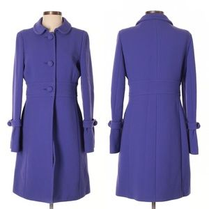 J. CREW purple wool double-cloth lady day coat